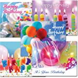 POSTCARDS: Birthday Assortment I, box of 60 postcards, 12 each of 5 different designs. No envelopes.