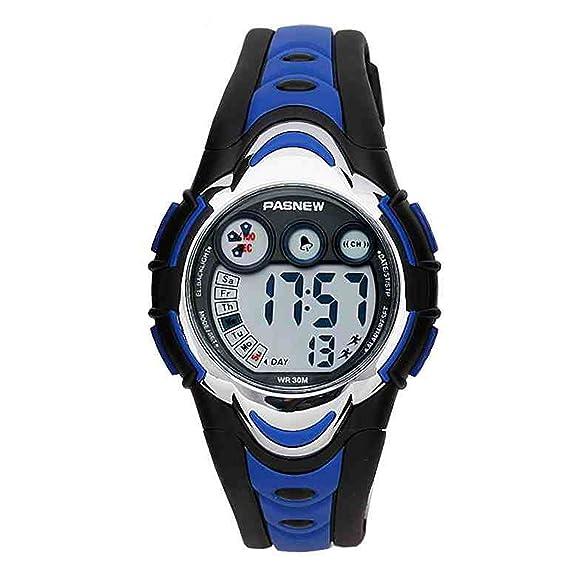 Beswlz deportes niños Digital LED alarma Cronómetro reloj de pulsera impermeable para niño niños niñas (