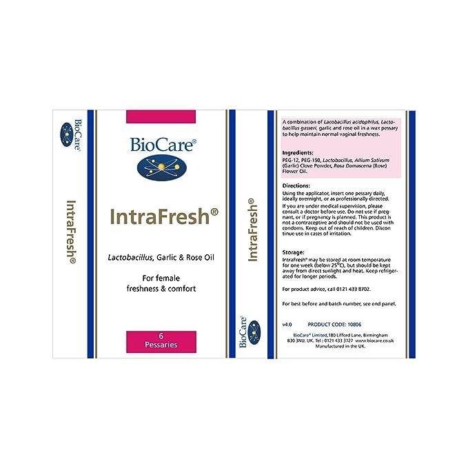 Biocare Intrafresh 6 Vaginal Pessaries Amazon Health