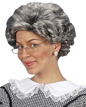 Fancy vestido Agatha Christie peluca gris pelo disfraz de abuela ...