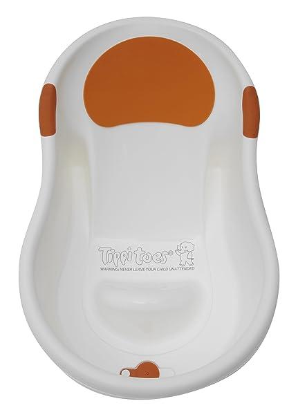 Tippitoes BM5 - Vasca da bagno mini, colore: Bianco/Arancione ...