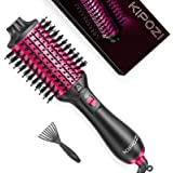 KIPOZI Hair Dryer Brush, Blow Dryer Brush with Negative Ion for Straightening, Curling, Fast Drying, 4 in 1 Hair Brush Dryer