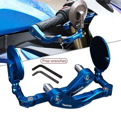 "NEVERLAND Motorcycle Pair 7/8"" 22mm Aluminum CNC Handlebar Protector Adjustable Lever Guards Brake"