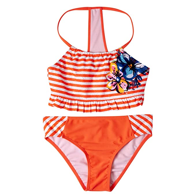 fd2b03672645a Amazon.com  Limited Too Girls 2-Piece Swimsuit with Striped