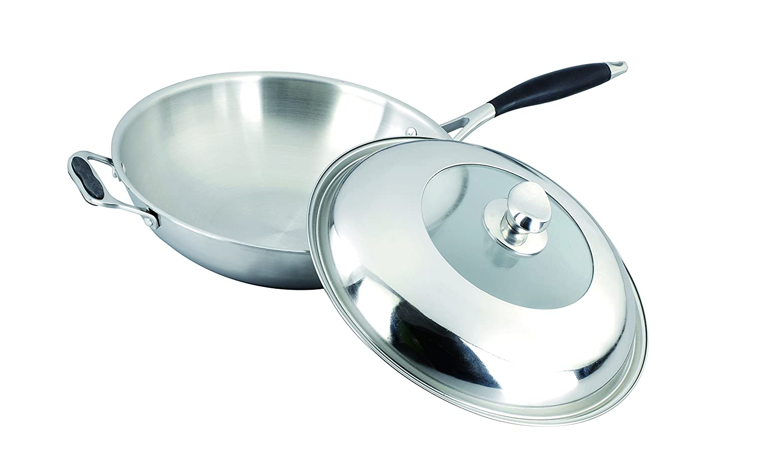 Amazon.com: Gourmet Chef SC-SS530 Tri-Ply Stainless Steel Wok, 12 ...