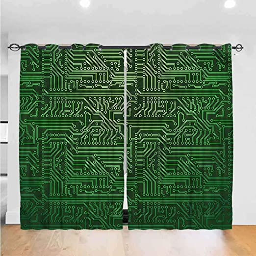 [SCHEMATICS_4UK]  Amazon.com: Zara Henry AbstractBedroom Curtains Living Room Curtains  Kitchen Curtains Office Curtains Grommets Curtain for Kids Room Circuit  Board Diagram Wire Indoor Darkening Curtains W96 x L108: Home & Kitchen | L108 Wiring Diagram |  | Amazon.com