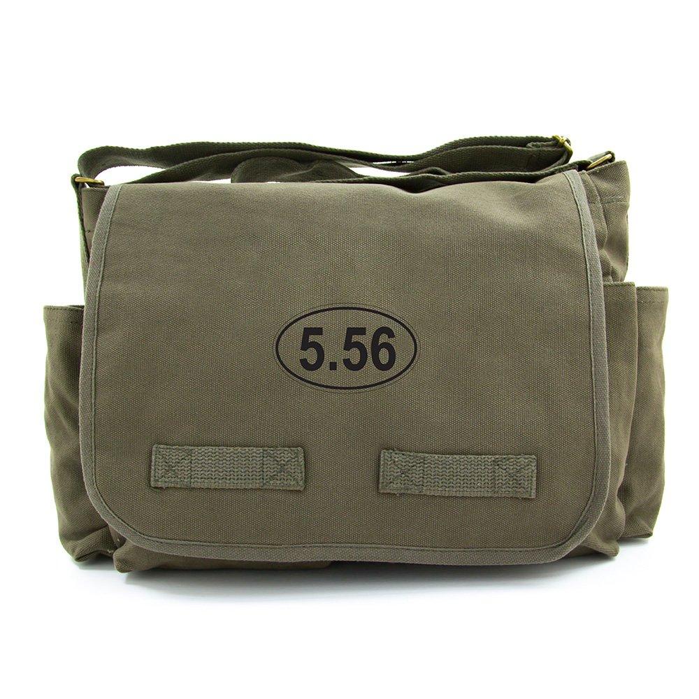 Black on Mocha Canvas Military 5.56 Assault Rifle AR15 Ammo Army Heavyweight Messenger Shoulder Bag