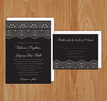 Amazon Com Moroccan Wedding Invitation Rsvp Cards With Envelopes