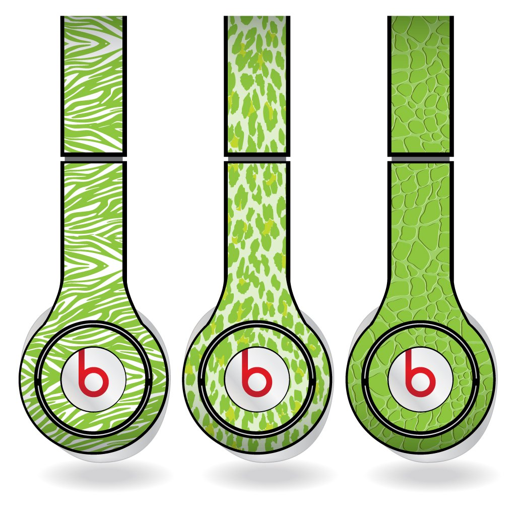 Amazoncom Lime Green Animal Print Set Of 3 Headphone Skins For
