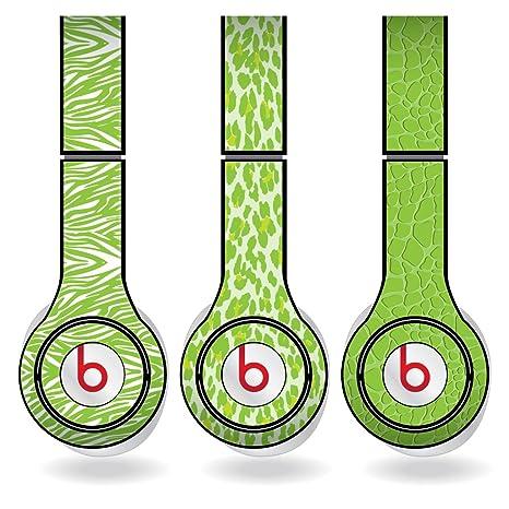 Amazoncom Lime Green Animal Print Set Of 3 Headphone Skins For