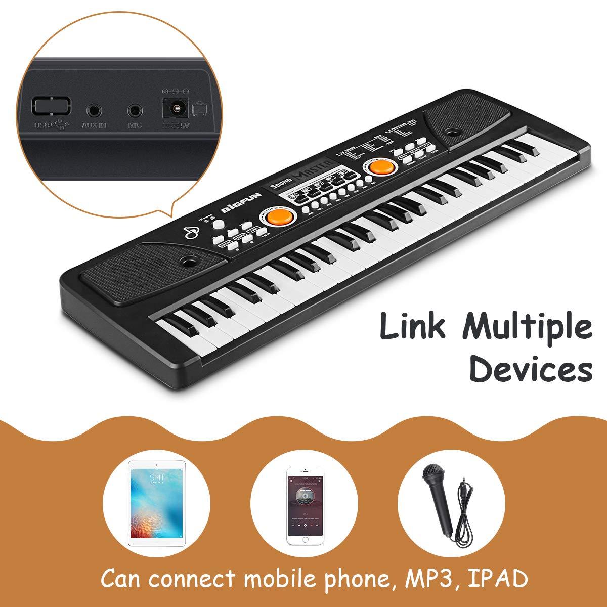 RenFox 49 Key Piano Keyboard Portable Electronic Kids Piano Keyboard Beginner Digital Music Piano Keyboard & Microphone Teaching Toy Gift for Kids Boy Girl by RenFox (Image #4)
