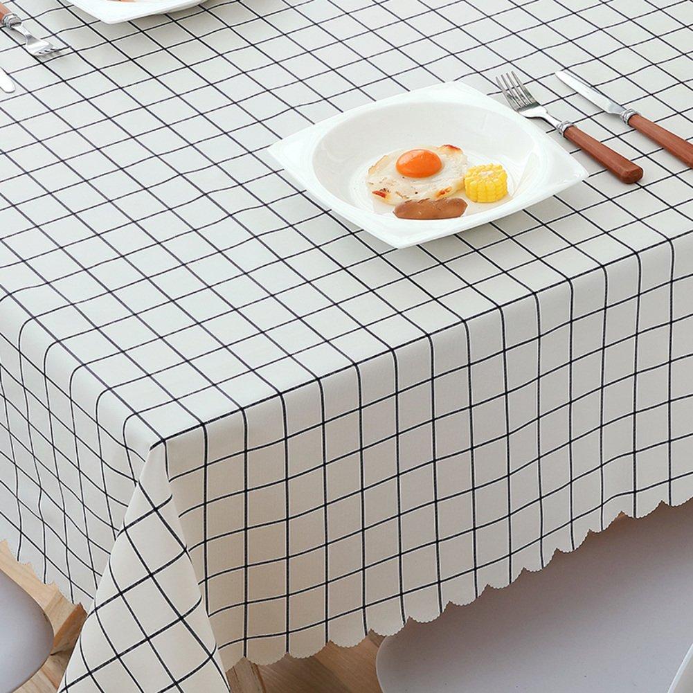 HM& DX PVC Impermeable Manteles de mesa Libre de aceite Antimanchas Comprobador de Decoraciones Mesa de paño de cubierta protector para comedor Mesas-azul 24*24in Redsun