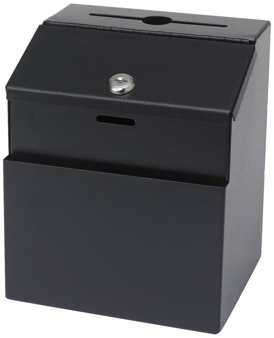 Safco Steel 7 x 6 x 8 1/2 Inch Suggestion/Key Drop Box with Locking Top (4232BL) Safco Products