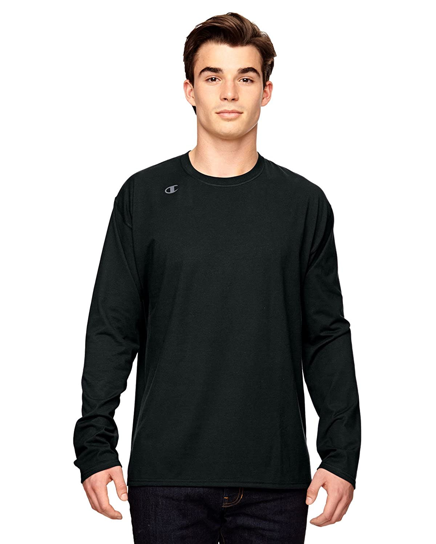 Champion mens Vapor Cotton Long-Sleeve T-Shirt (T390)
