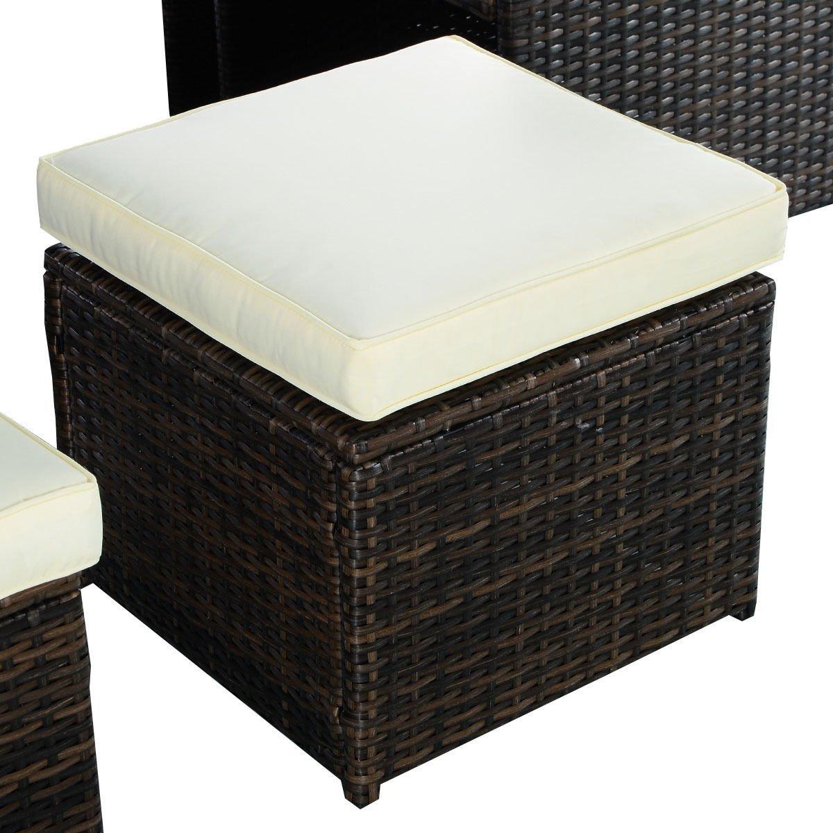 Amazon.com: Tangkula 9 PCS Outdoor Patio Garden Rattan Wicker Sofa ...
