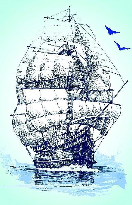 The Shutterstock Collection Bateau Sur La Mer Dessin Voilier Vector Sketch Poster 27 9 X 43 2 Cm Amazon Fr Cuisine Maison