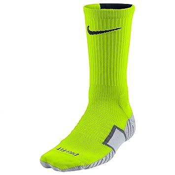 Nike Crew Socks Matchfit Football Calcetines, Unisex, Lima/Gris / Negro (Volt/Wolf Grey (Black), S: Amazon.es: Deportes y aire libre