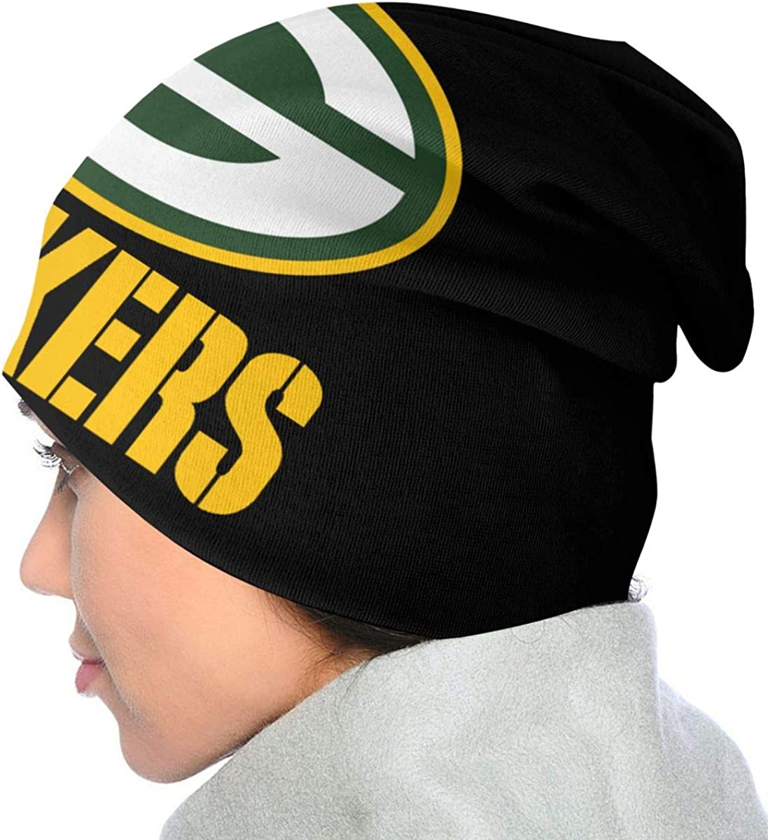 Sinobullit Kids Beanie Caps Green Bay Packers Skull Cap Knitting Hat Warm Winter Knit Hats for Boys Girls