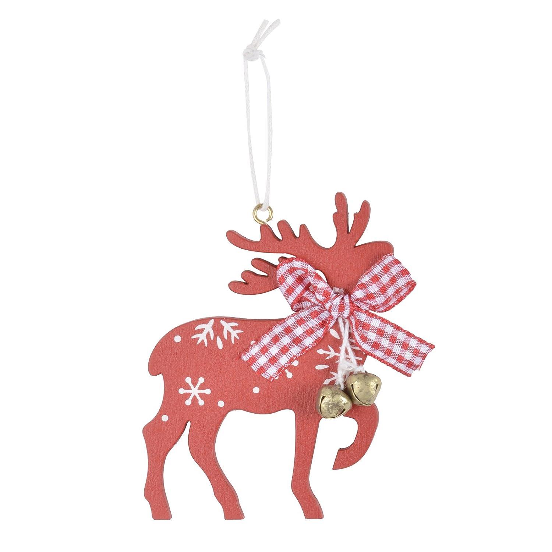 Mr Crimbo 3pc Wooden Ho Ho Ho Hanging Christmas Tree Decorations Ornaments Xmas Festive