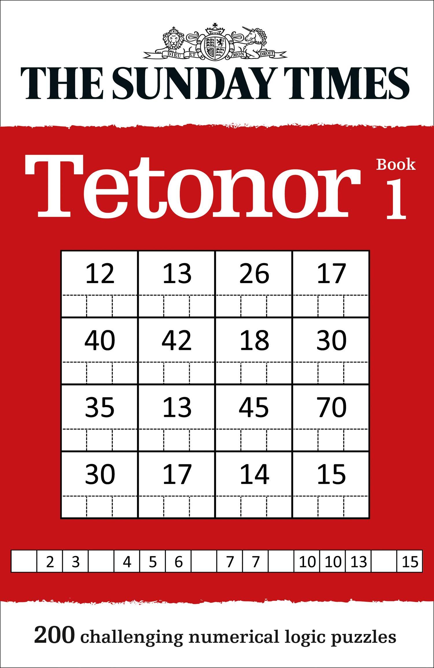The Sunday Times Tetonor Book 1 (Puzzle Books): Amazon co uk