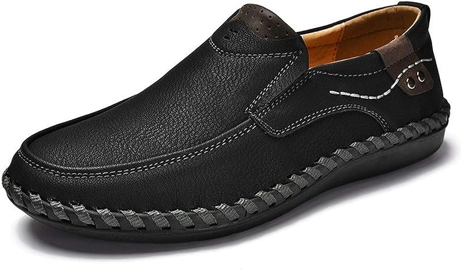 TALLA 40 EU. Phefee Los Zapatos de Cuero Oxfords de los Hombres Ocasionales se adaptan a los Zapatos de los zapadores del Negocio Zapatos de conducción Planos para los Hombres