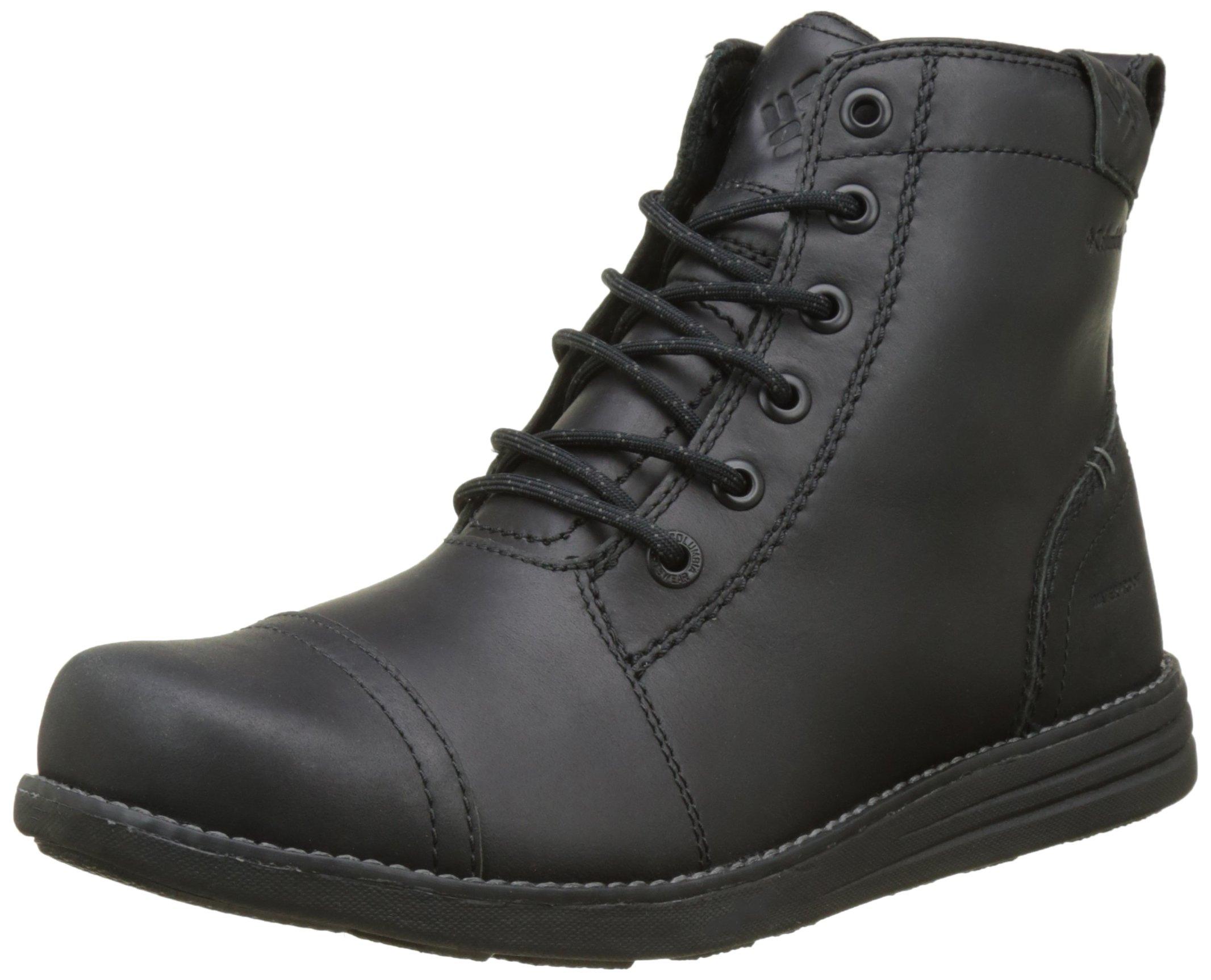 Columbia Men's Irvington 6'' Leather Boot Waterproof Uniform Dress Shoe, Black, Charcoal, 12 D US