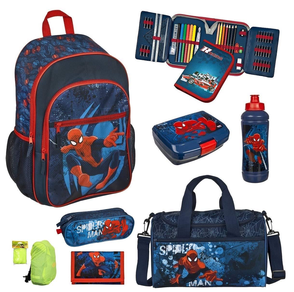 de70ade3ee886 Familando Spiderman Schulranzen Set 8tlg. Scooli Rucksack mit Federmappe  gefüllt Sporttasche SPJU7614 Familando® SPON8252-GR