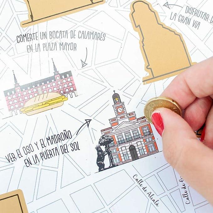 Mapa para rascar Madrid: Amazon.es: Oficina y papelería