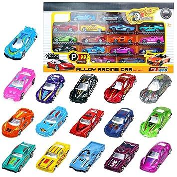 Coches Miniatura Vehículos de Juguete Metalicos Maquetas Carrera Juguetes Niños 3 4 5 Años 16 Pedazos Modelos Variados: Amazon.es: Juguetes y juegos