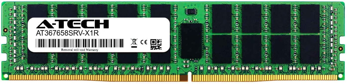 Server Memory Ram A-Tech 32GB Module for MSI AT367658SRV-X1R10 MS-S1311 Micro Star DDR4 PC4-19200 2400Mhz ECC Registered RDIMM 2rx4
