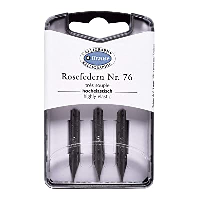 Brause Rose 76 Nib (Pack of 3): Office Products