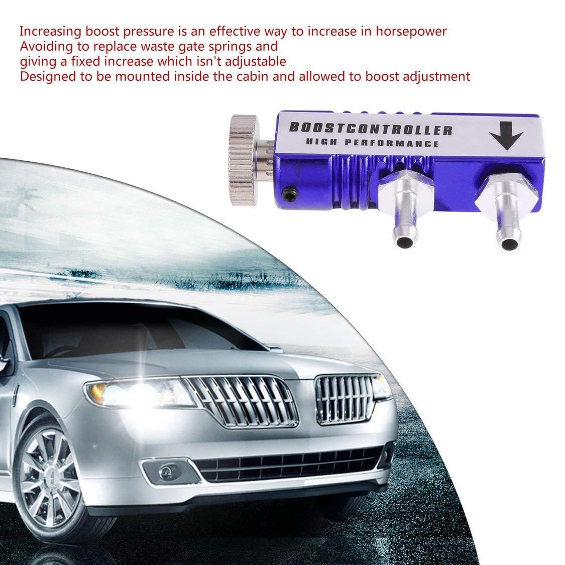 Ajustable 1-30 PSI Racing Turbo Manual MT Turbo//Turbocompresor Boost Controller Kit Turbo regulador de presi/ón Auto Accesorios