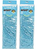 WOTRA Wet and Dry Microfiber Flat Mop Refill Set of 2 (Washable, Reusable and Easily Replaceable) Blue in Color