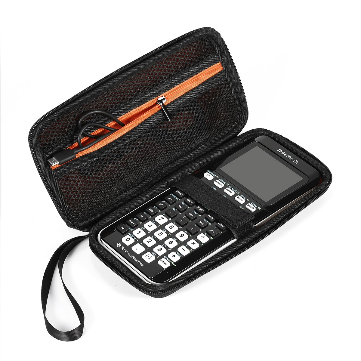Faylapa Carrying Case Storage Travel Bag for Graphing Calculator Texas Instruments TI-83 Plus TI-84 Plus CE TI-89 Protective Pouch Black by Faylapa