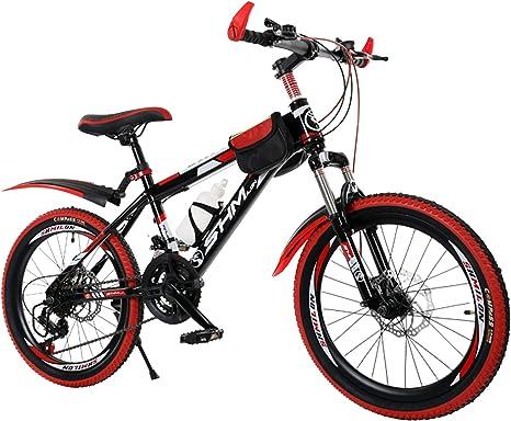 Axdwfd Infantiles Bicicletas De 20 Pulgadas De Bicicletas Niños Al Aire Libre 21 De Velocidad Ajustable, Ajustable De Bicicletas De Montaña For Niños, Rojo: Amazon.es: Deportes y aire libre