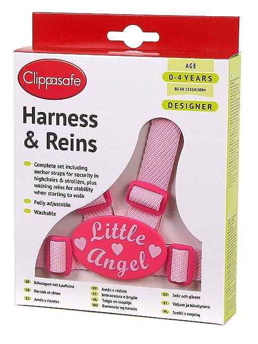 Clippasafe Arnés de fácil lavado y riendas (Little Angel): Amazon ...