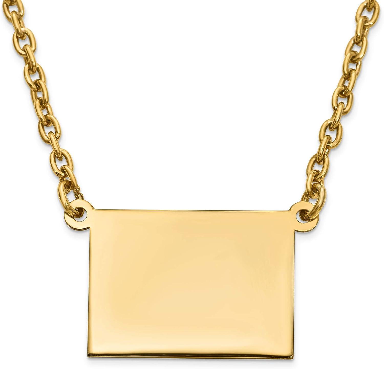 Jewelry Pendants nusswahn.de Bonyak Jewelry GP WY State Pendant ...