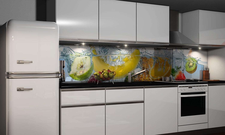 Küchenrückwand-Folie Fruchtig selbstklebend Klebefolie Spritzschutz ...