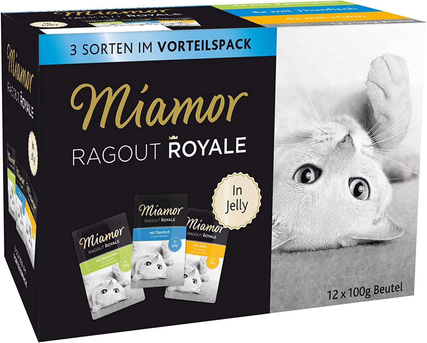 Miamor Ragout Royale in Jelly Adult Multibox, 4 Unidades (4 x 1,2 kg)