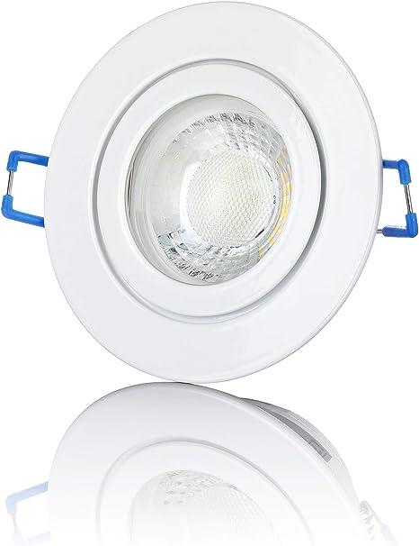 LED Einbaustrahler Bad 1-10W flach IP44 Feuchtraum Einbau-Spot außen GU10 230V