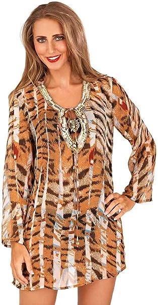 Lora de baño con Falda para Mujer diseño de Piel de Leopardo Dora ...