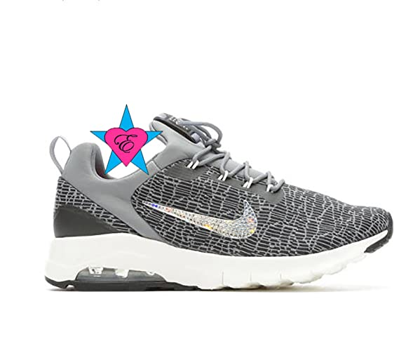 Image Unavailable. Image not available for. Color  Custom Clear Crystal  Bling Gray Black Nike Womens AIR ... d93822089187