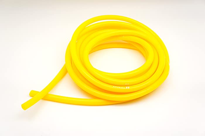 "Autobahn88 High Performance Silicone Vacuum Hose, ID 0.16"" (4mm), OD 0.35"" (9mm), 15 Feet per reel (4.5 Meter), Yellow"
