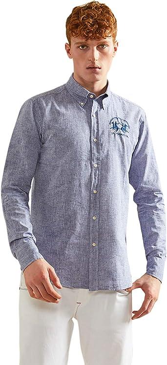 La Martina Man Shirt L/S Cotton Linen Camisa para Hombre: Amazon.es: Ropa y accesorios