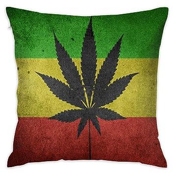 Amazon.com: MOLYESTIY Marijuana Cannabis - Funda de almohada ...