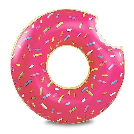 Flotador Inflable Fochea Flotador Donut 120cm Para Piscina Playa (L, Rosa)