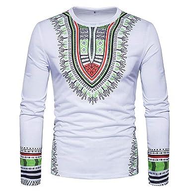 8b255bdd2eb Men s National 3D Print O-Neck Long Sleeve Casual Shirt Ethnic Floral Pattern  Fashion Tee