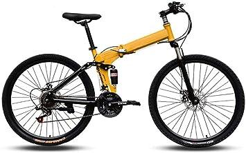 CSS Bicicletas de montaña, fácil de transportar Marco de acero de alto carbono plegable Bicicleta plegable de velocidad variable de 24 pulgadas de absorción de choque doble 6-6,24 velocidades: Amazon.es: Bricolaje y