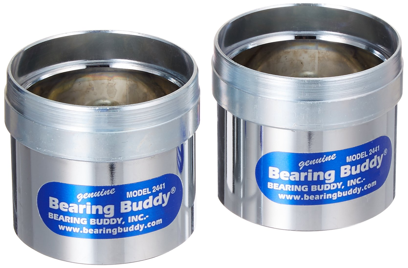 Bearing Buddy 42440 Chrome Bearing Protector - 2.441'' Diameter, Pair