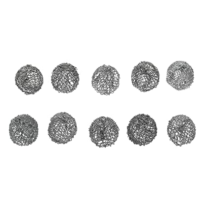 dophee 10Pcs Tobacco Pipe Silver Screen Metal Ball Filter Combustion 17mm  Durable Tool